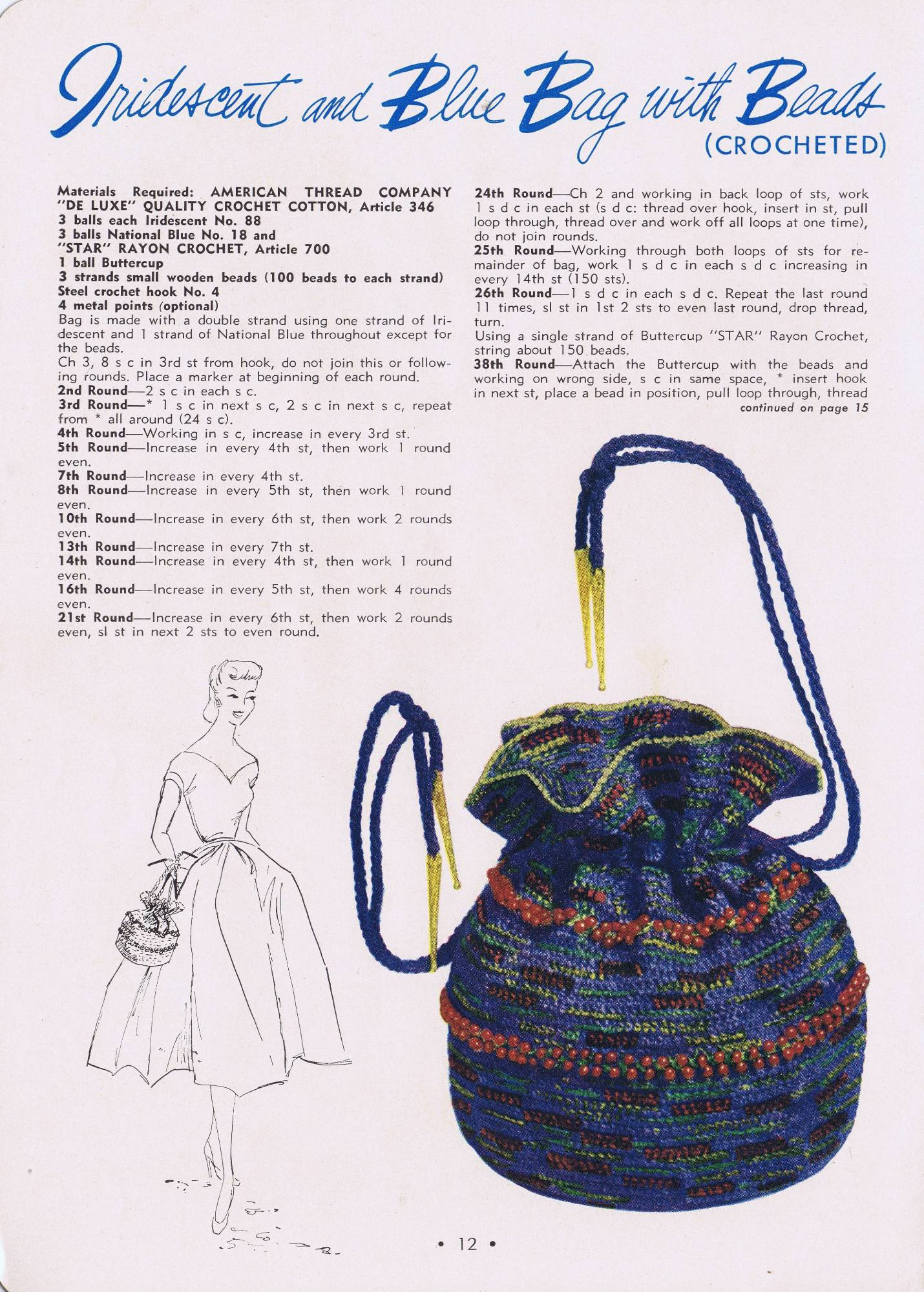 Free Vintage Crochet Hat and Bag Patterns – Vintage Patterns ...