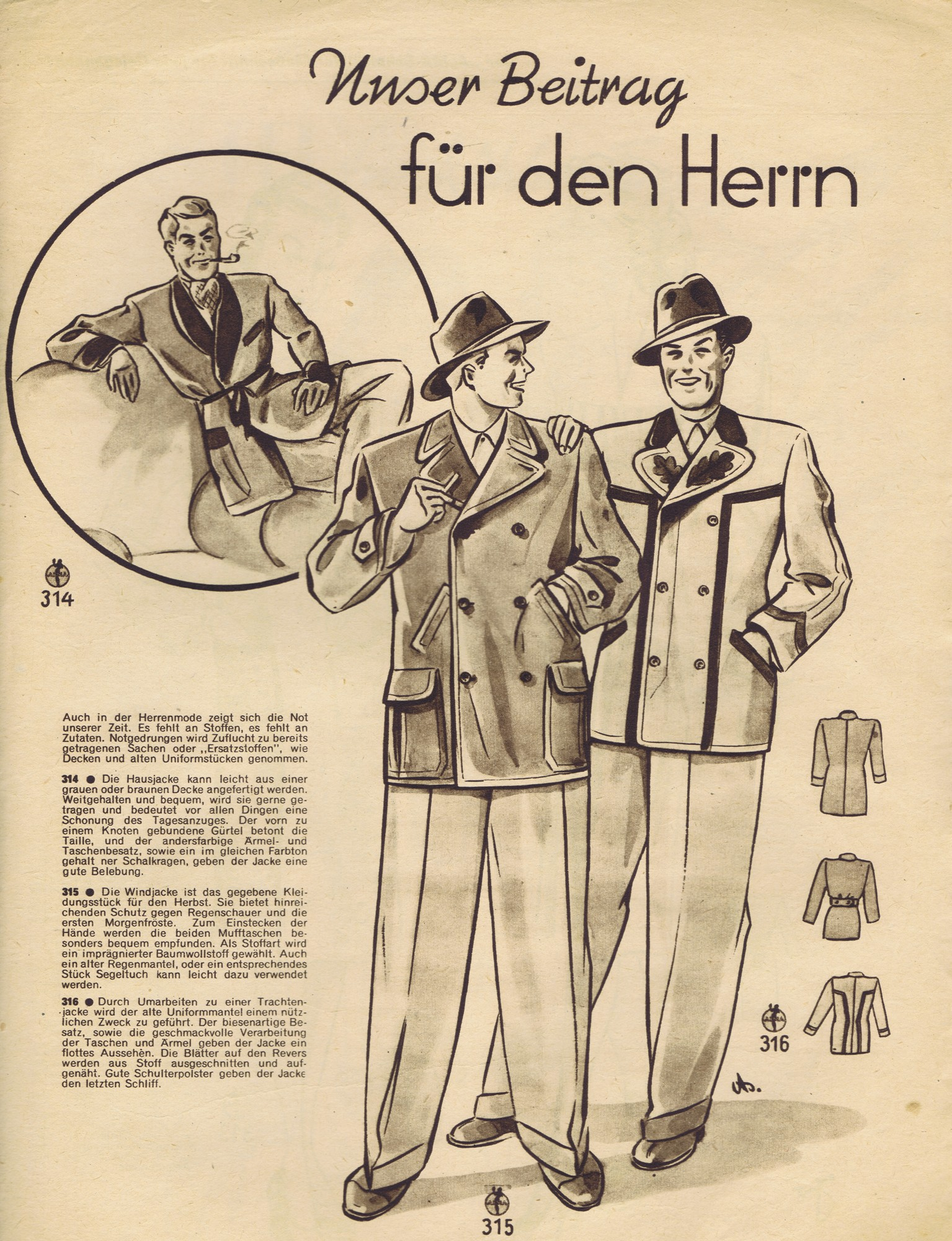 FREE Vintage 1940s Sewing Patterns German Die Alma Mode