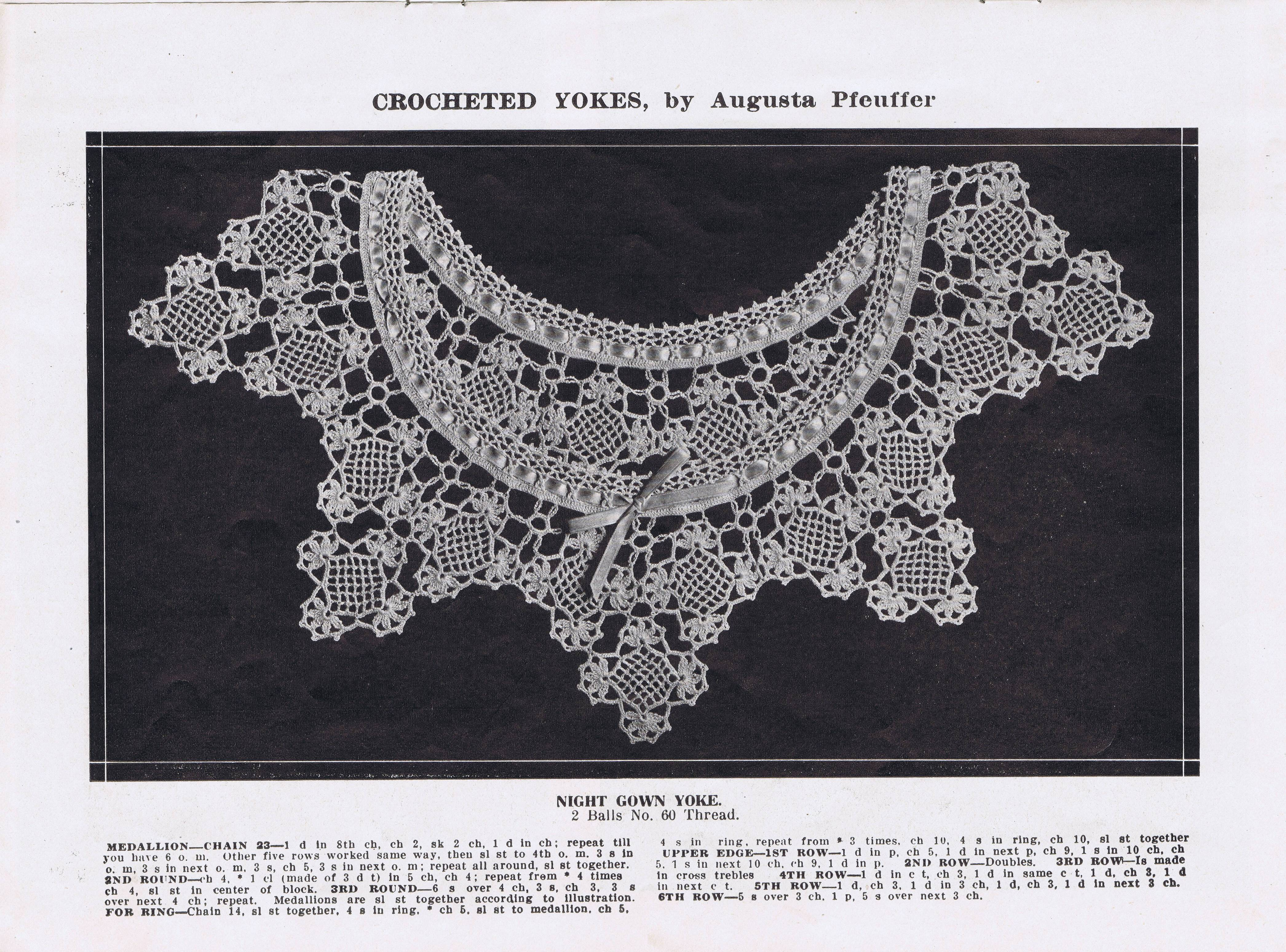 Free Vintage Crochet Yoke Patterns : Pattern Give Away Day 1 The Twelve Days of Christmas ...