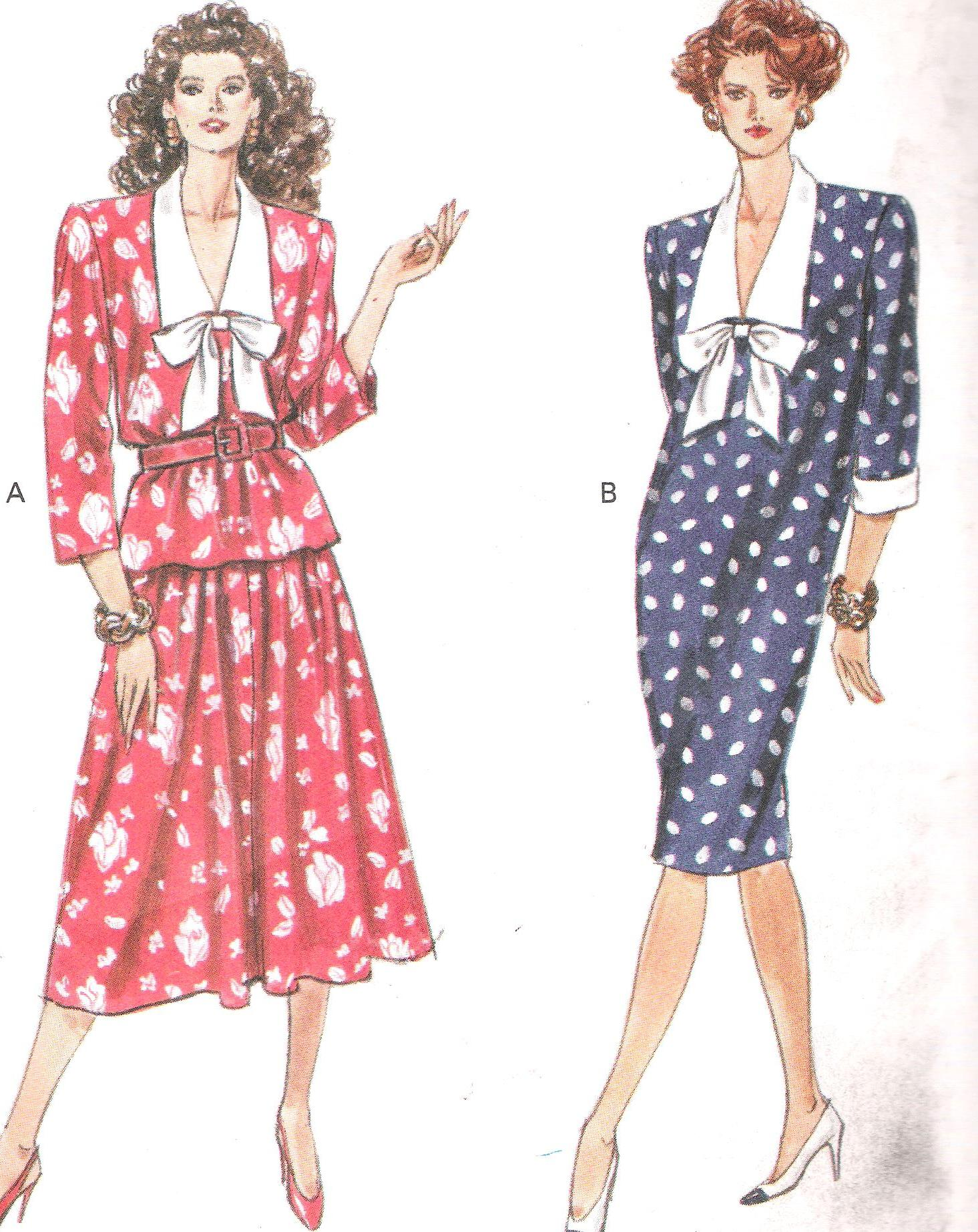 Sewing Pattern Butterick 3911 Dress Top Skirt 14 16 18 UNCUT