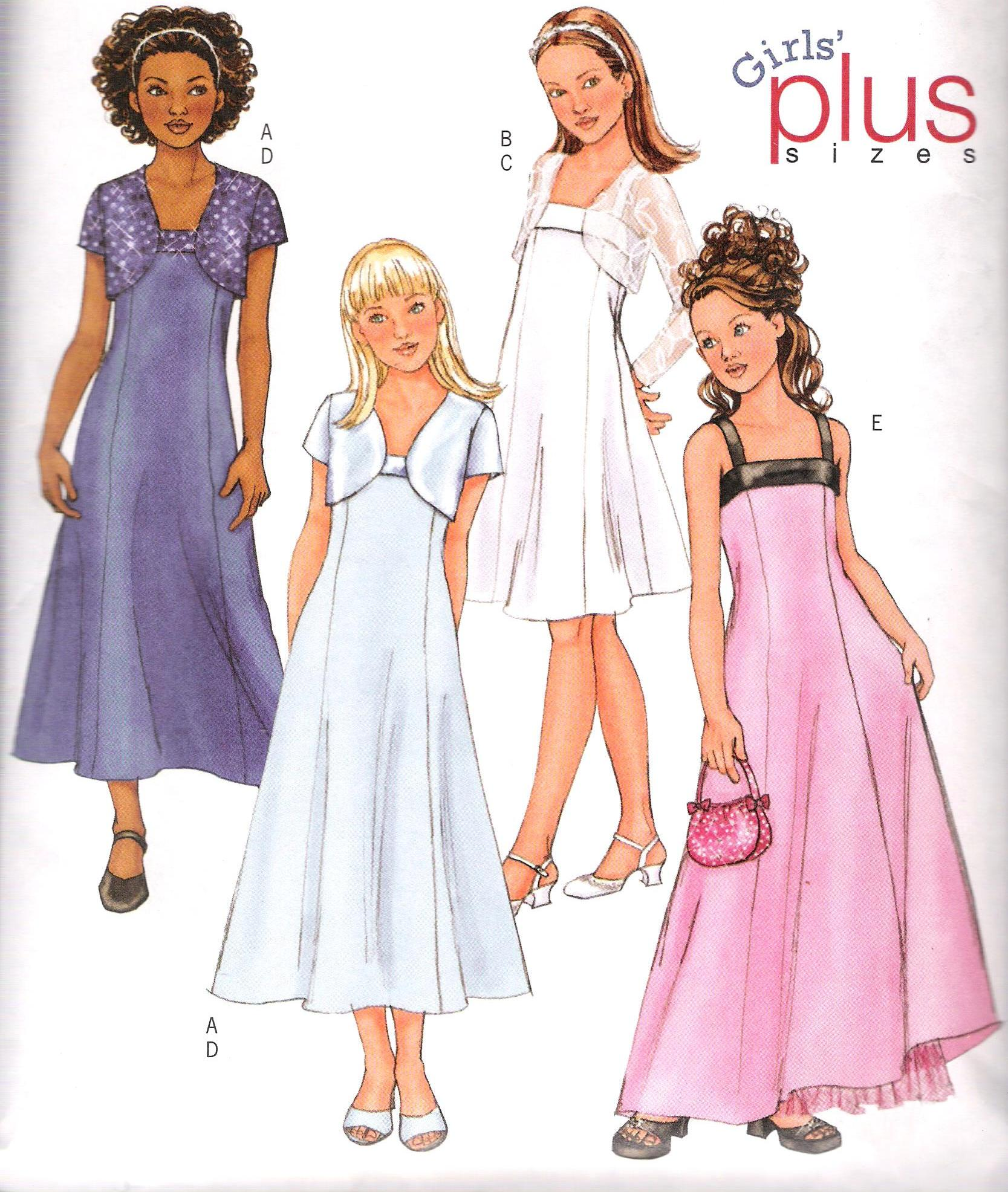 4385 Butterick Jacket Dress Sewing Pattern Plus Girls Size 7-14