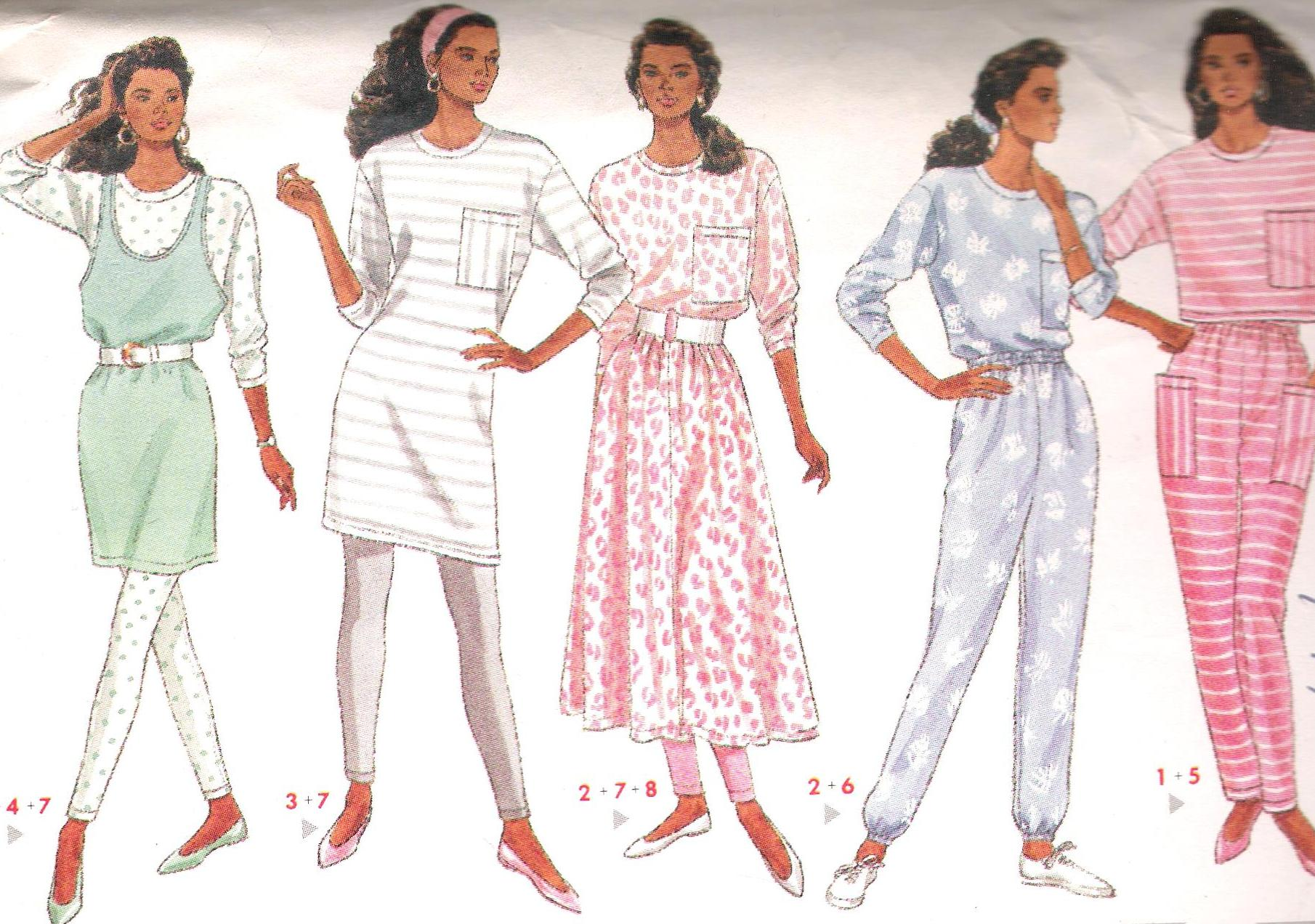 4471 Butterick Sewing Pattern Dress Leggings Pants Skirt Size 12-16