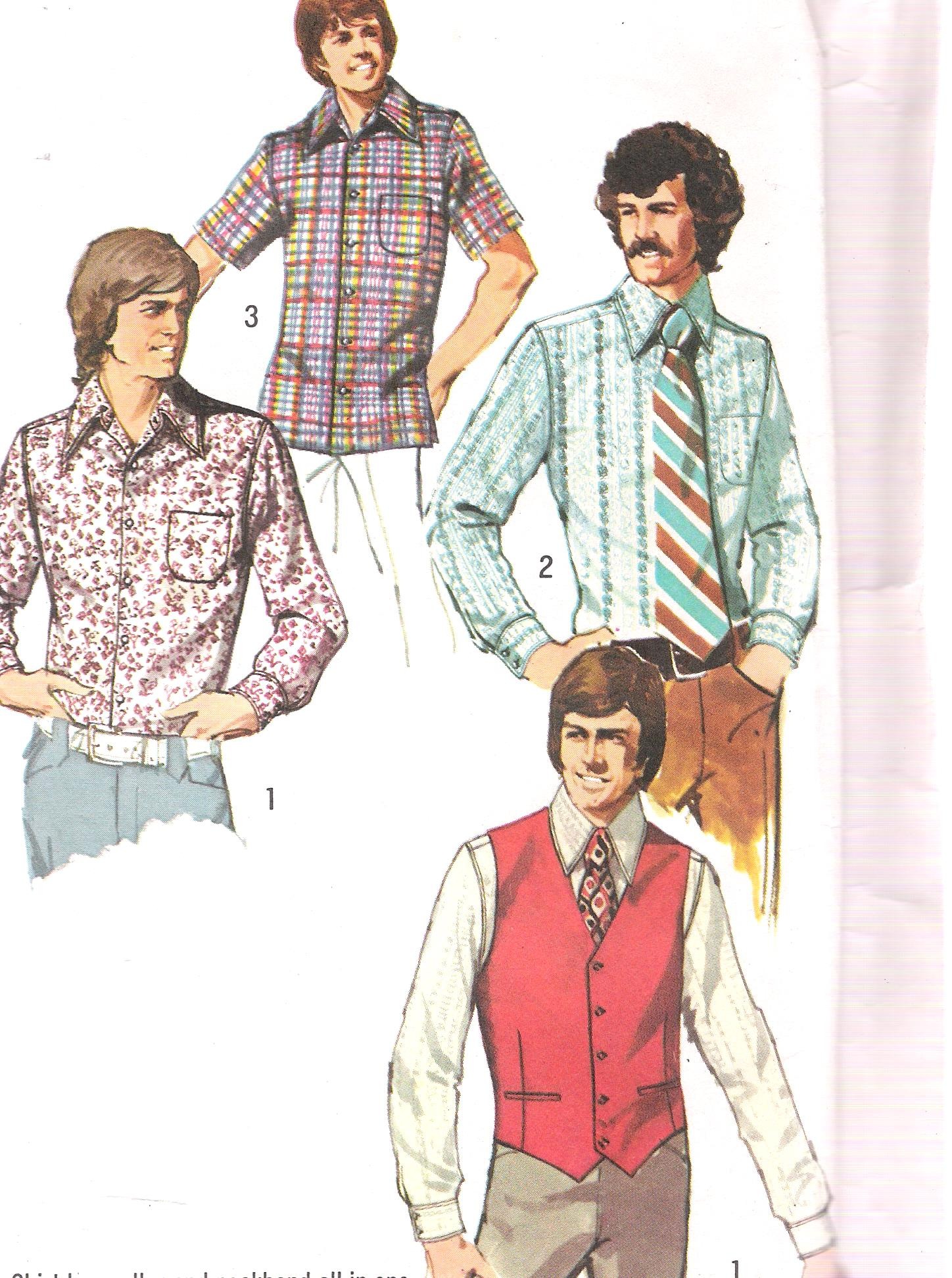 5047 Simplicity Vintage Mens Shirt Vest Sewing Pattern Chest 38 Inches