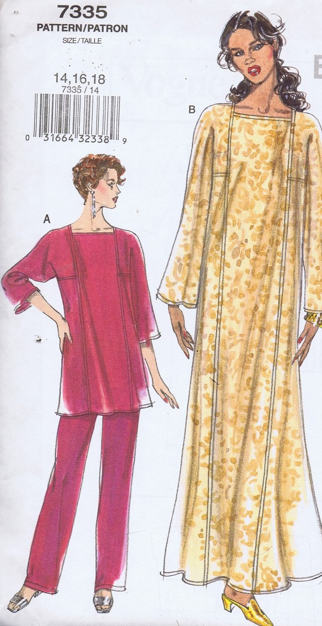 7335 Vogue Caftan Top Pants Bust 36 to 40 Inches