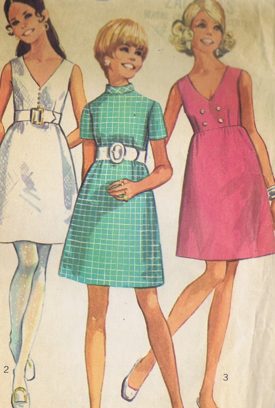 Vintage Sewing Pattern One Piece Dress SIMPLICITY 8137 BUST 34 UNCUT