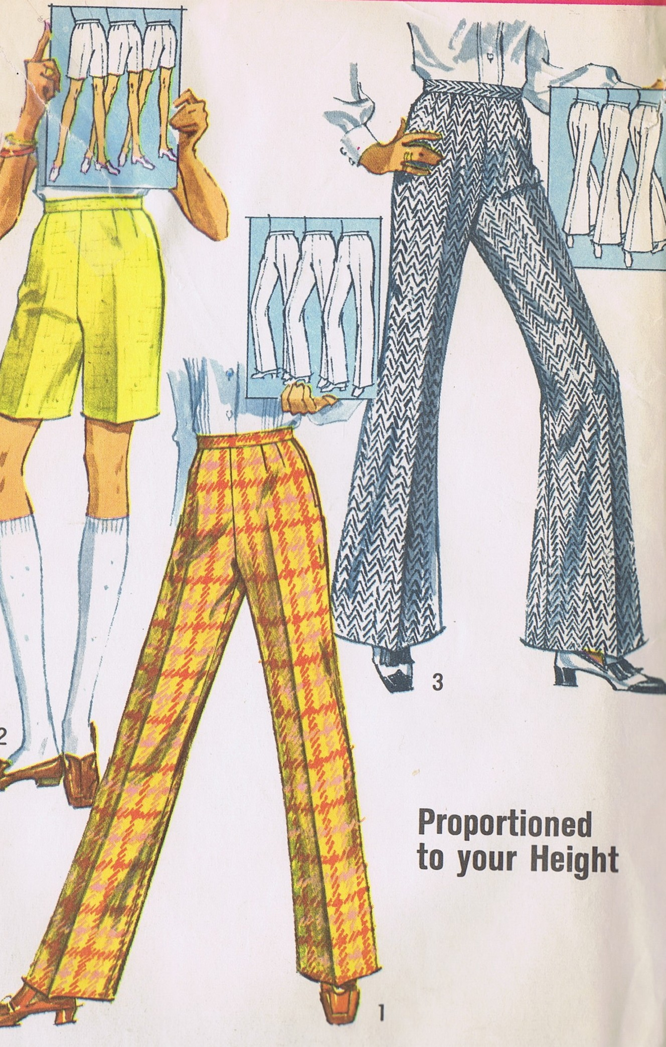 Vintage Bell Bottom Pants Sewing Pattern 8289 Simplicity HIP 38 Inches UNCUT