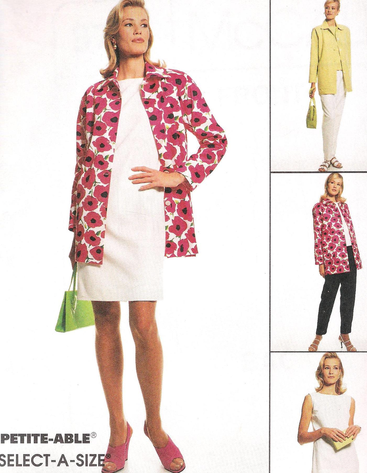8741 McCalls Jacket Dress Blouse Pants Sewing Pattern Size 8 through 12