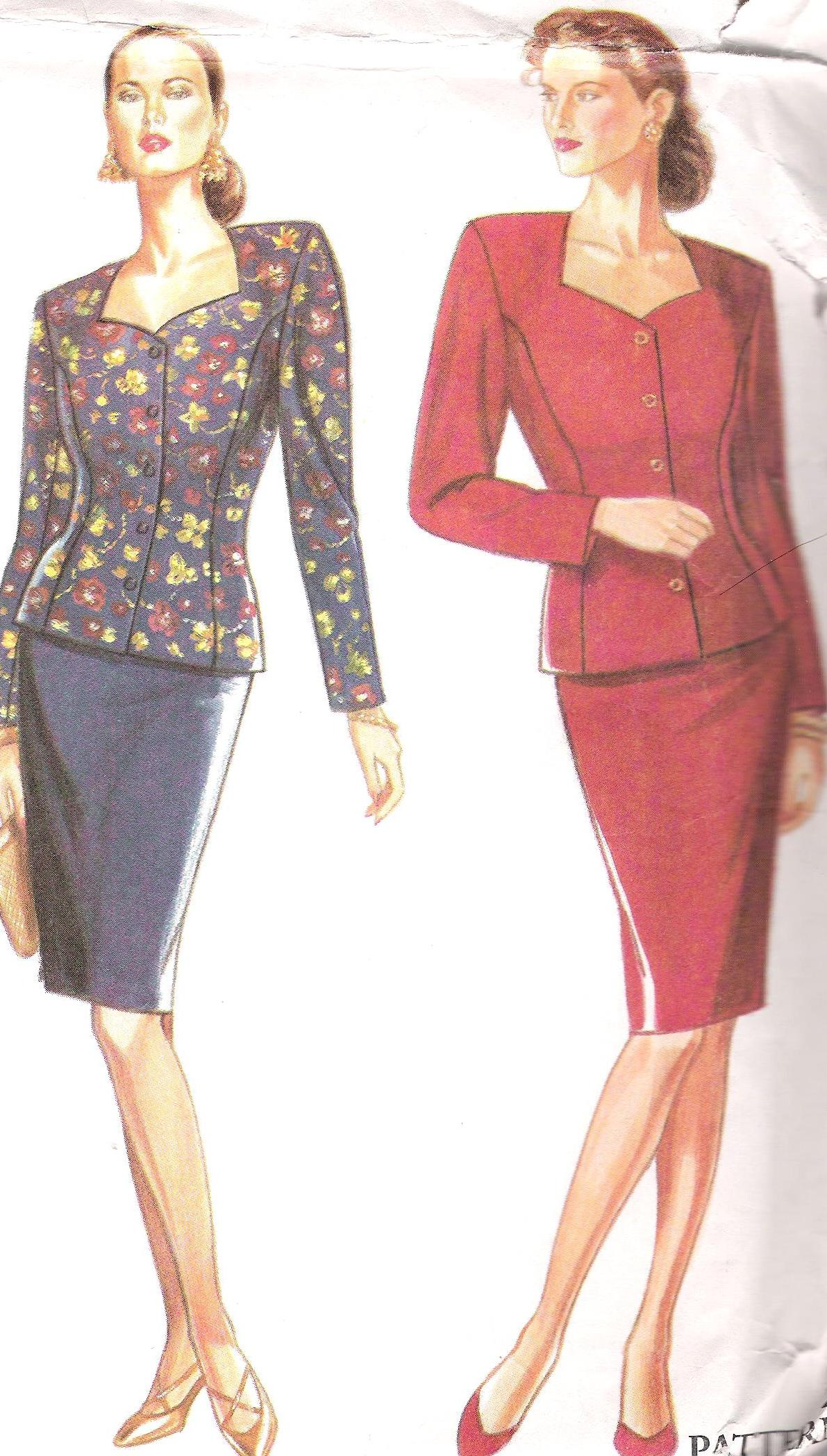 2 Piece Suit 9835 Simplicity Sewing Pattern Multi Size UNCUT