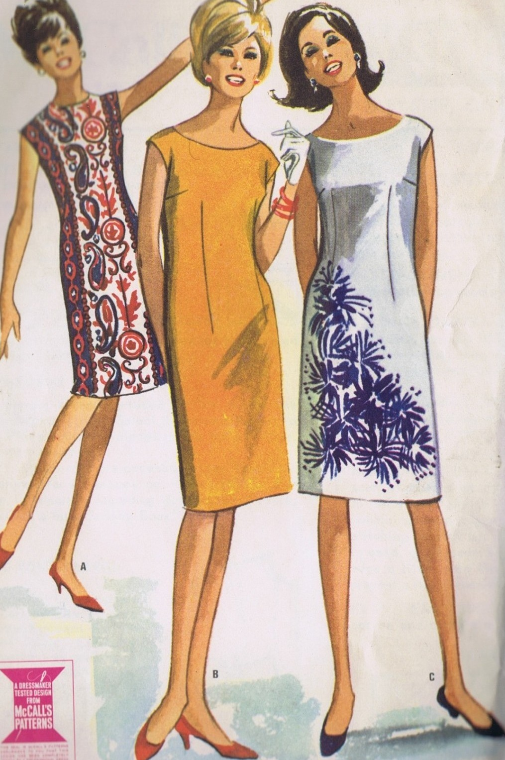 7196 McCall's Sheath Dress Vintage Sewing Pattern Large Bust 36-38 Inches Uncut