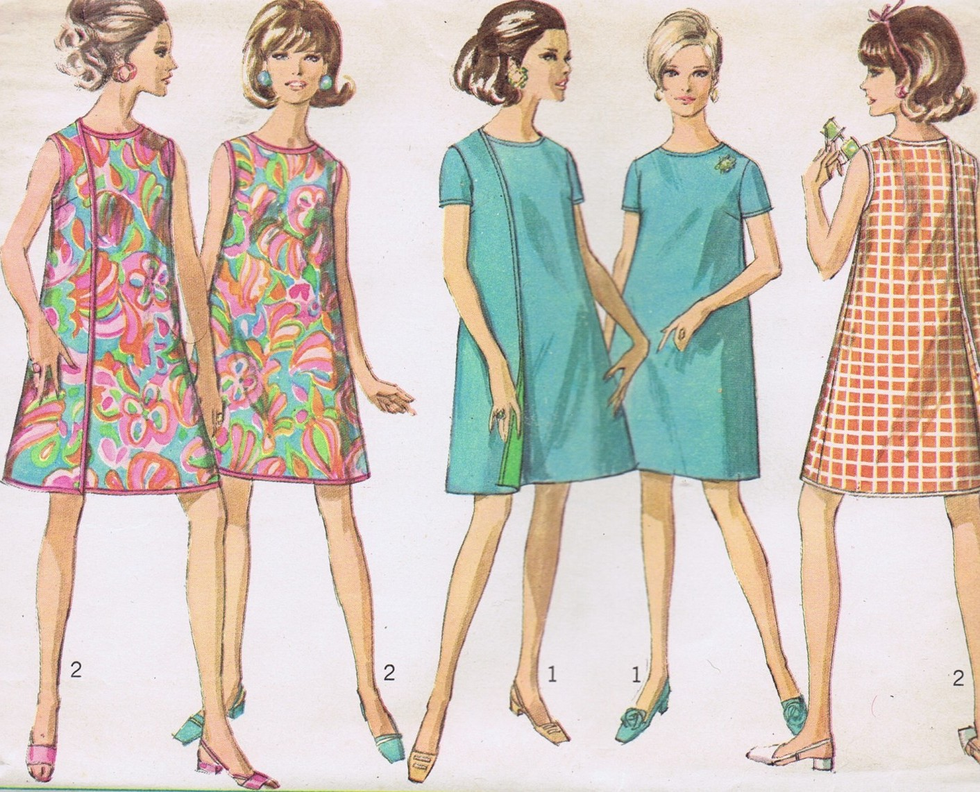 SOLD Simplicity 7484 Vintage Sewing Pattern Wrap Dress Bust 36 UNCUT