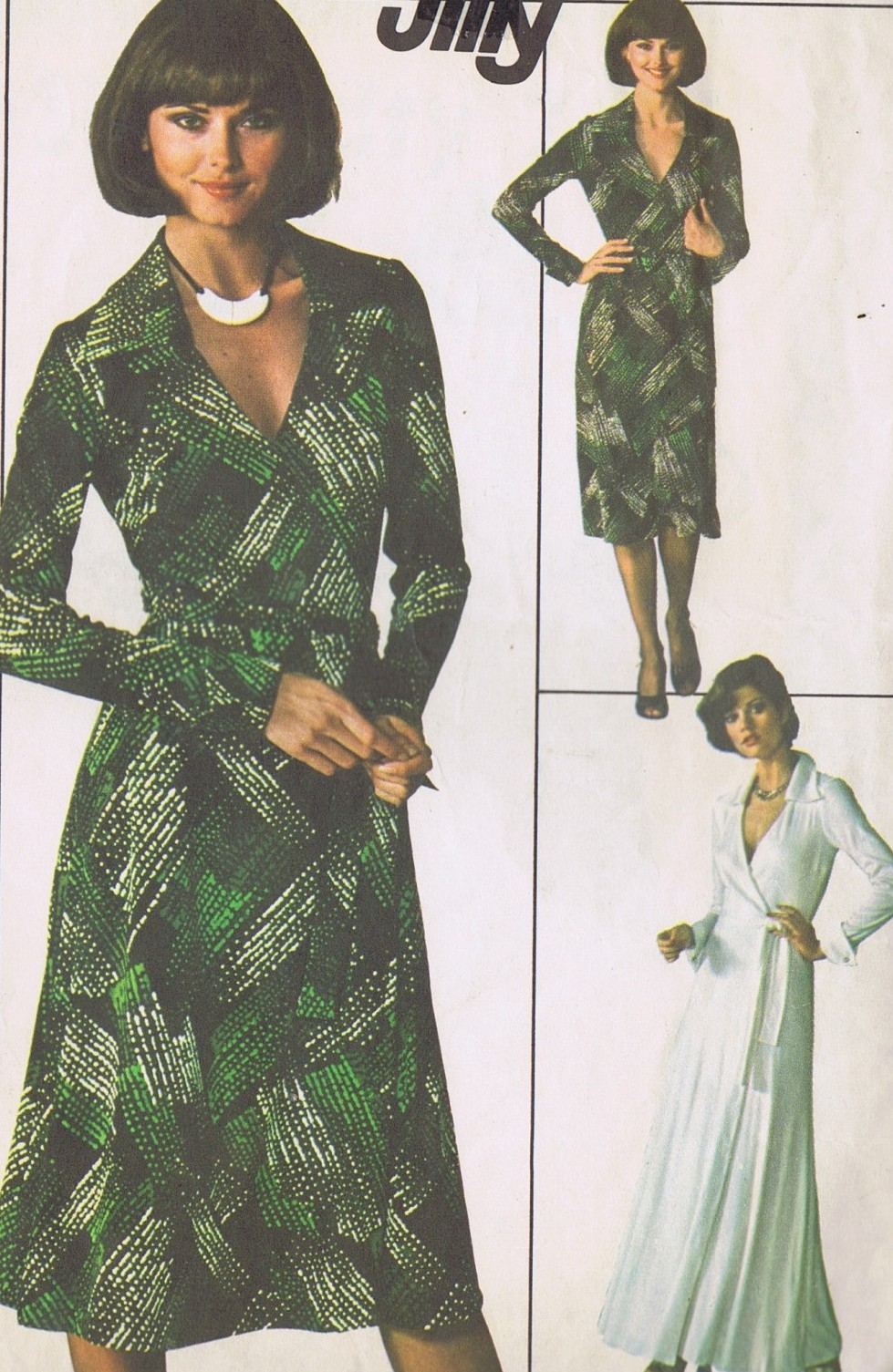 SOLD – 7705 Simplicity Wrap Dress Sewing Pattern Size 14 UNCUT