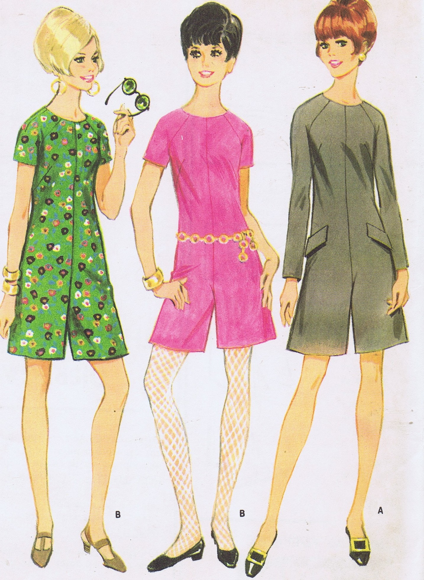 McCalls 9075 Pant Dress 60s Sewing Pattern Bust 36 UNCUT