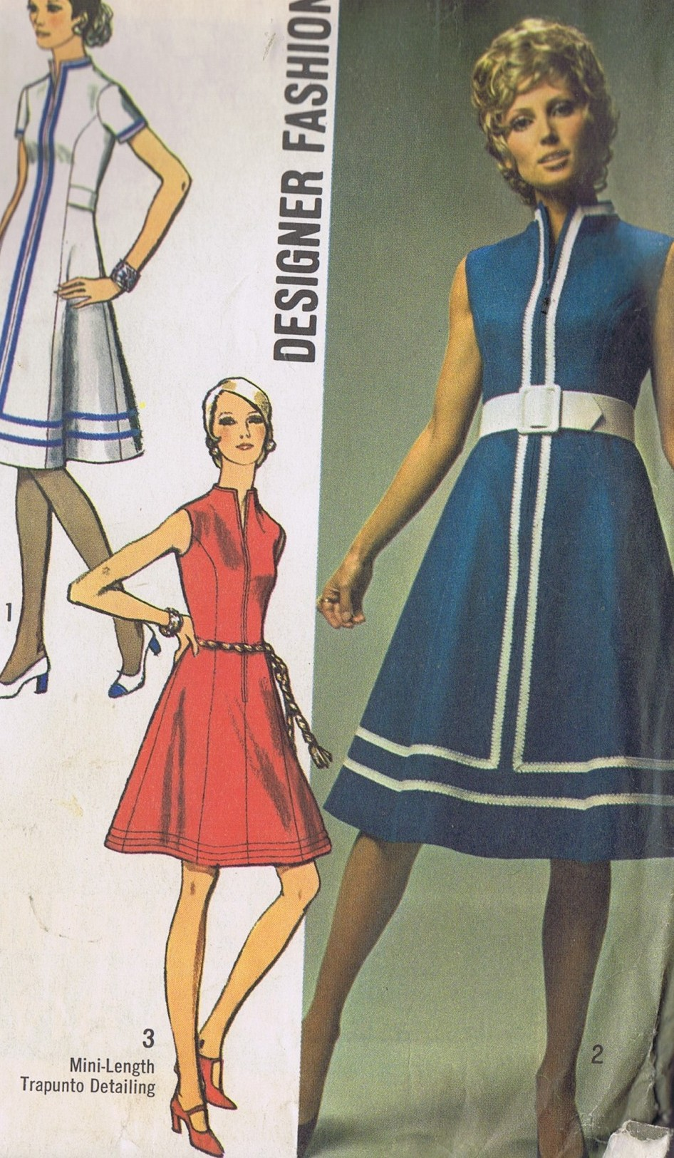 9147 Simplicity One Piece 70s Dress Sewing Pattern Size 12 UNCUT