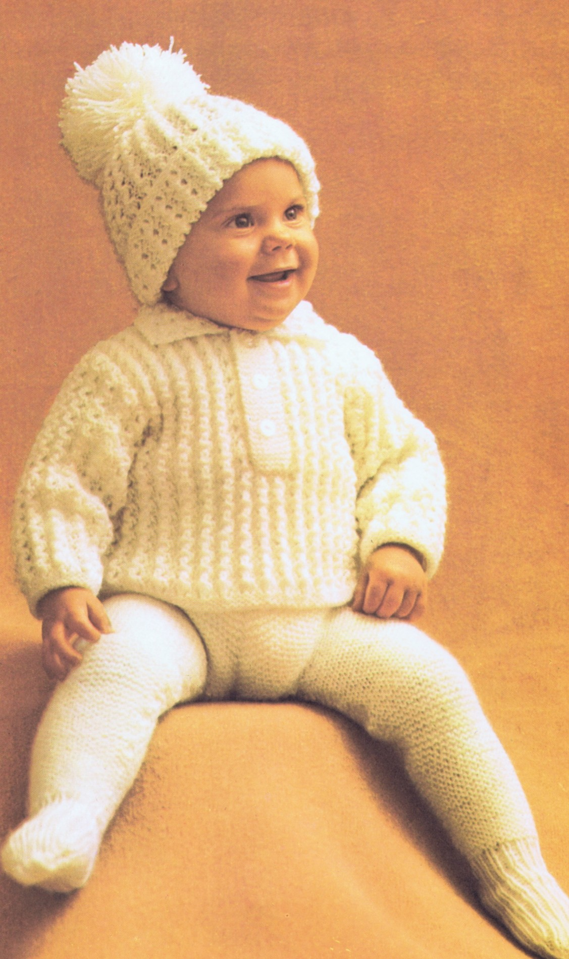 Free Vintage 3 Piece Baby Knitting Pattern