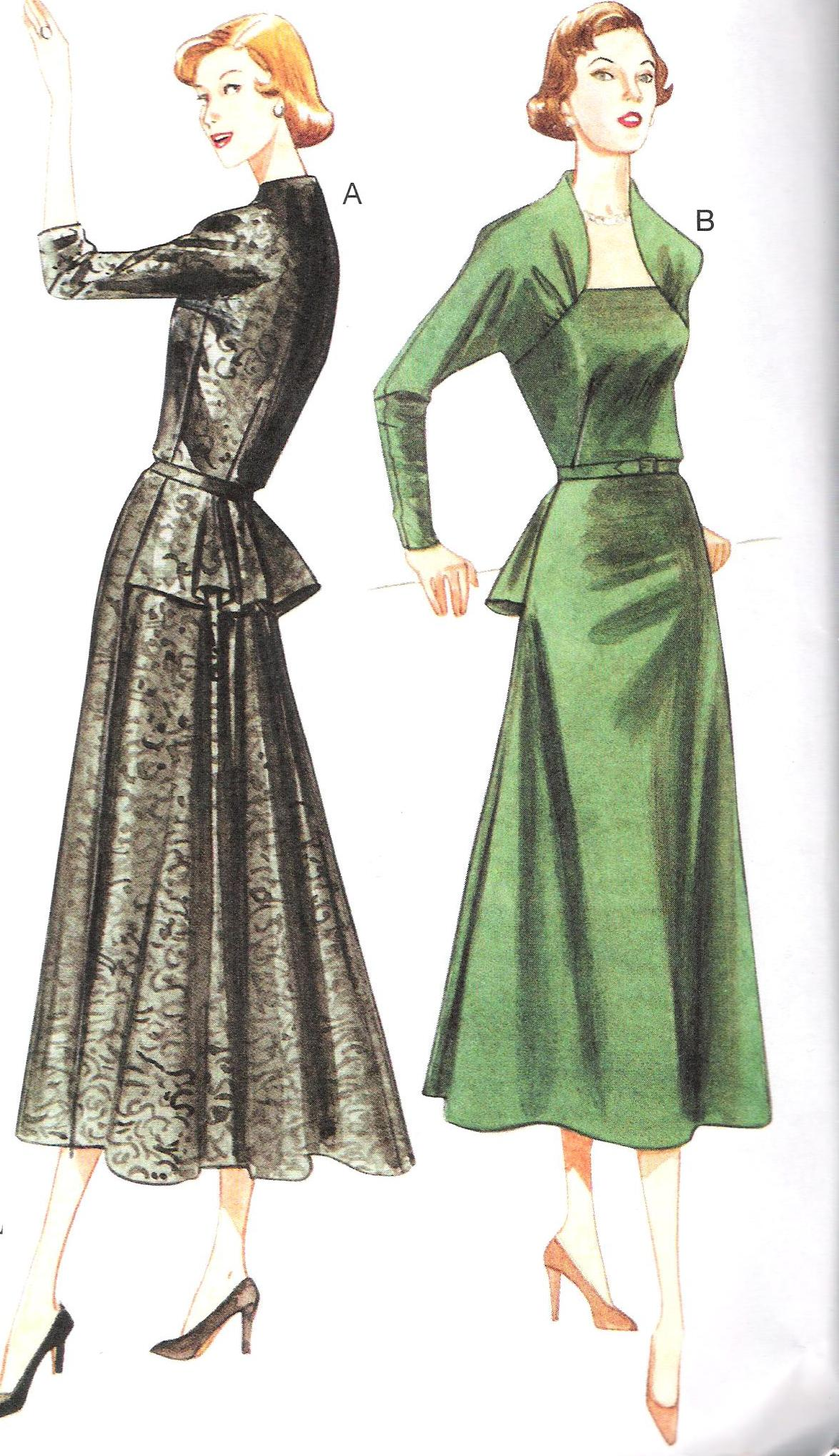 8768 Vogue Dress Sewing Pattern Bust 34-40 Hip 36-42 Inches Uncut