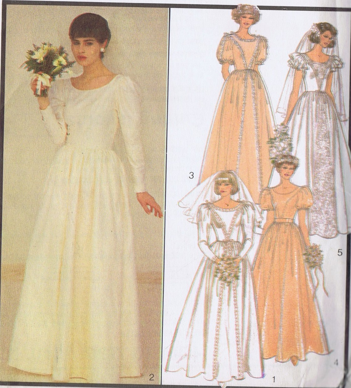 SEWING PATTERN Bridal Wedding Dress 4195 Style Size 10 Bust 32