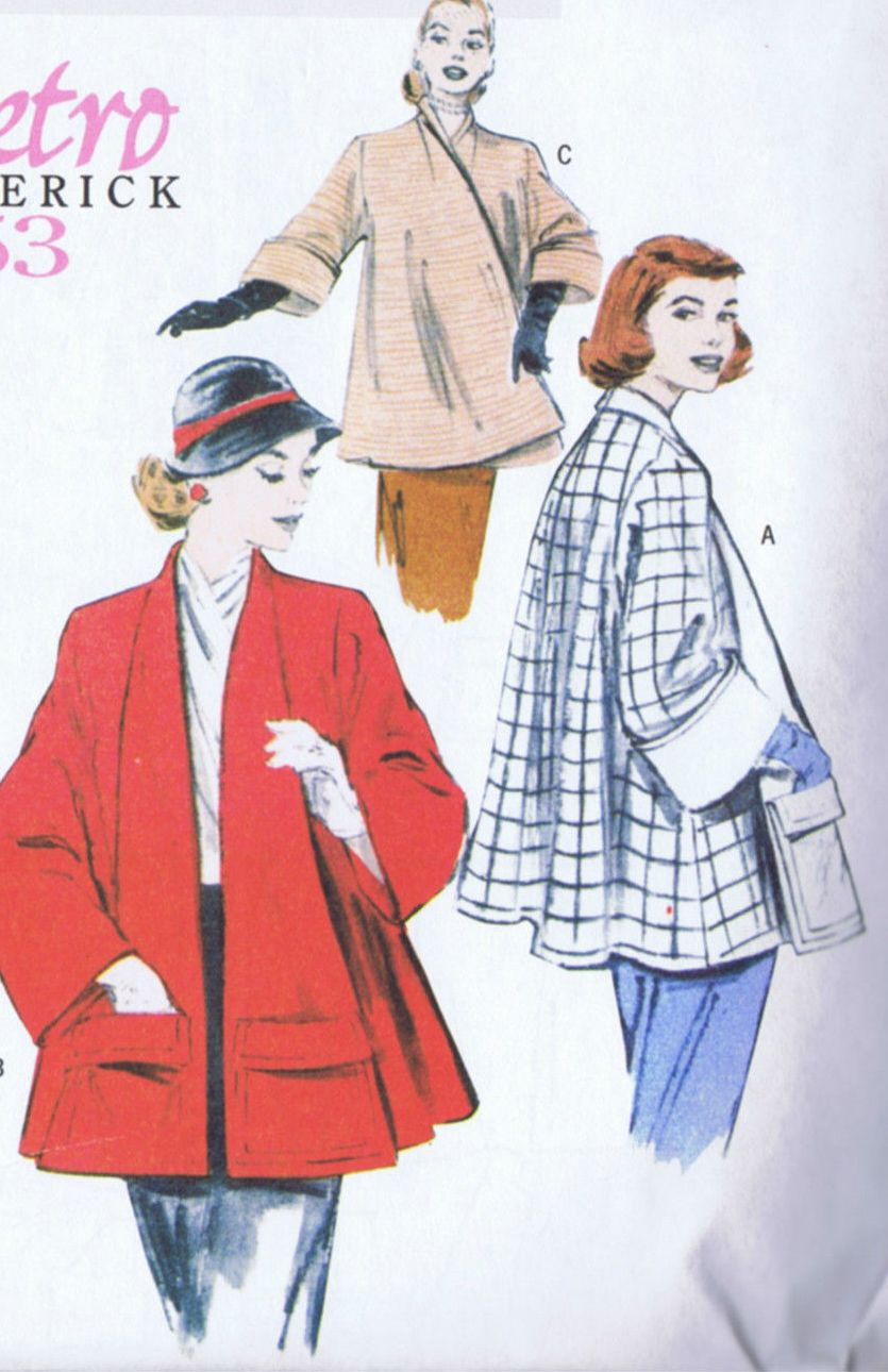 SOLD Butterick 5716 SEWING PATTERN Swing Coat Vintage LRG XLG XXL UNCUT