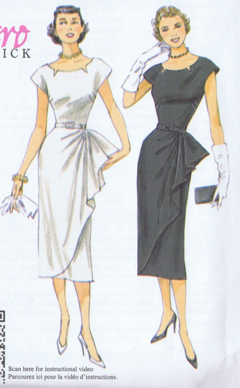 5880 Butterick Sewing Pattern Cocktail Dress VINTAGE REPRO SIZE 14 to 22 UNCUT