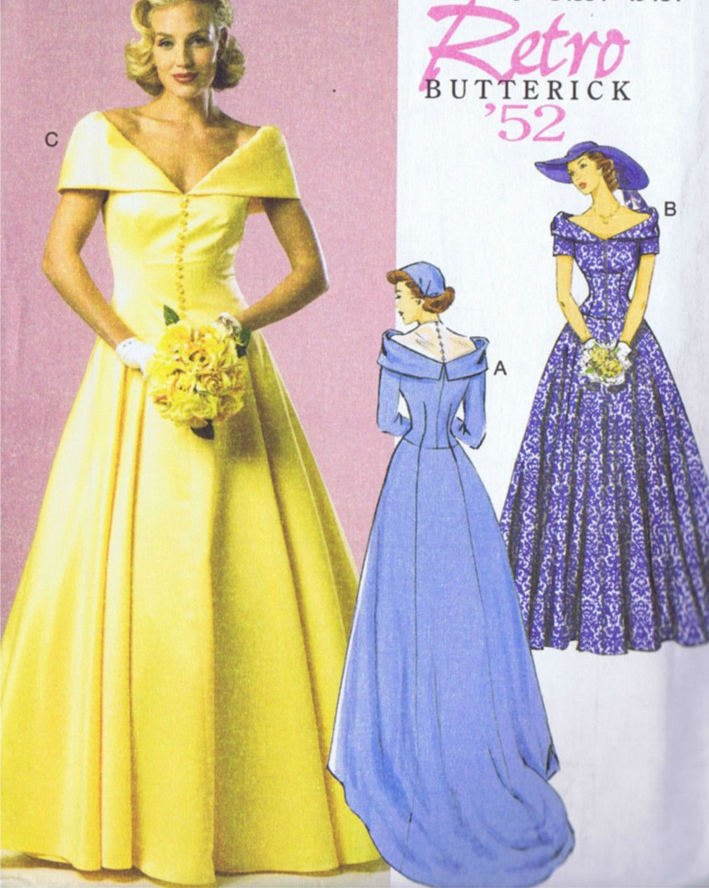 BUTTERICK 6022 Sewing Pattern Bridal Evening Dress Bust Size 36 to 44 Inches UNCUT