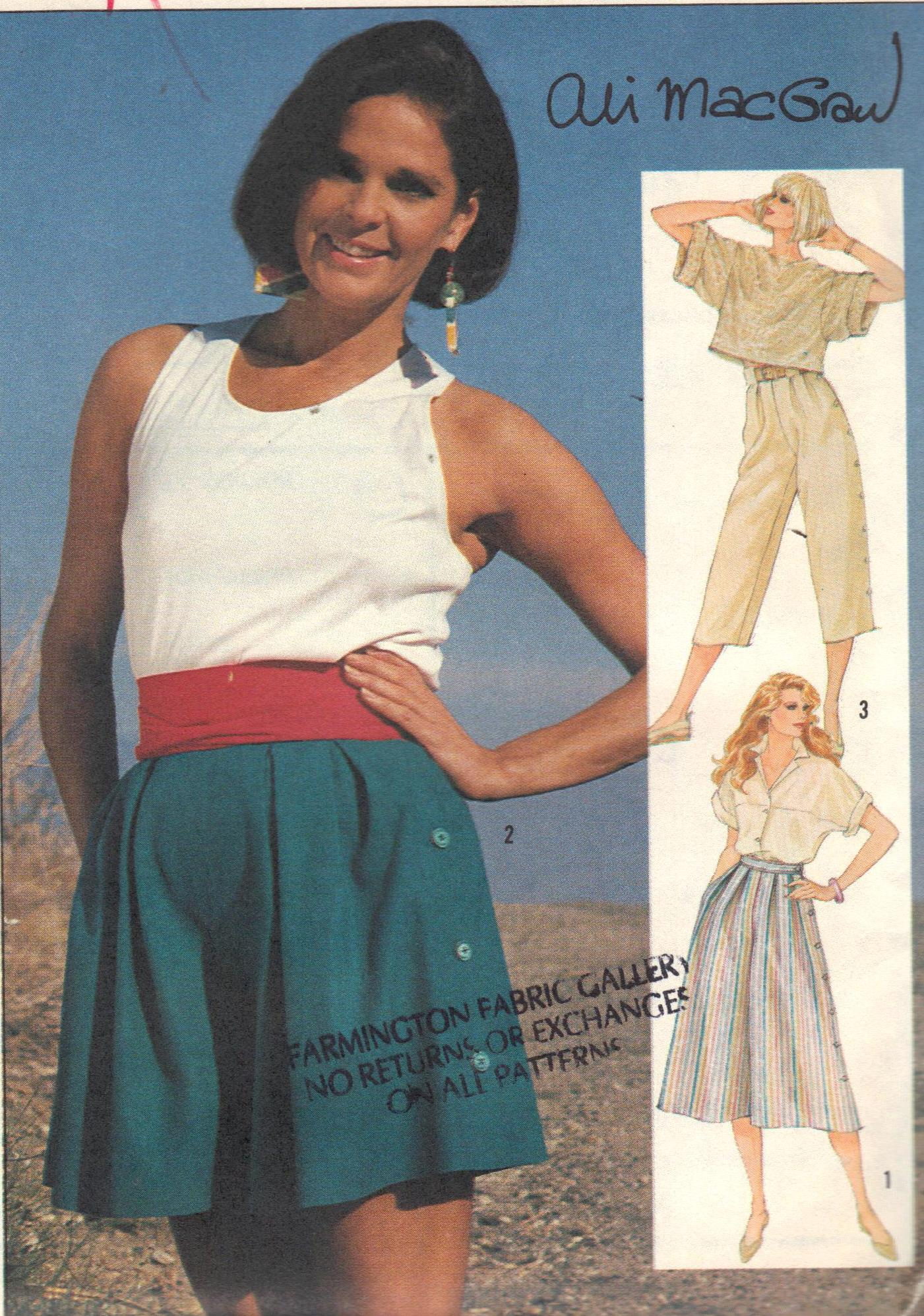 SIMPLICITY 6894 Culottes Palazzo Pants Shorts Two Lengths Size 8