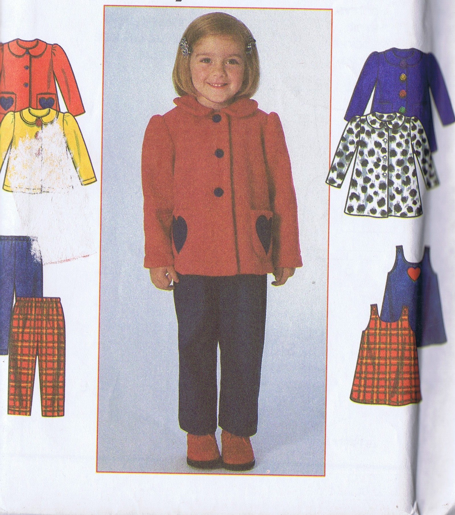 7872 Simplicity Girls Dress Coat Pants Jacket Sewing Pattern Size 2 to 4 Uncut