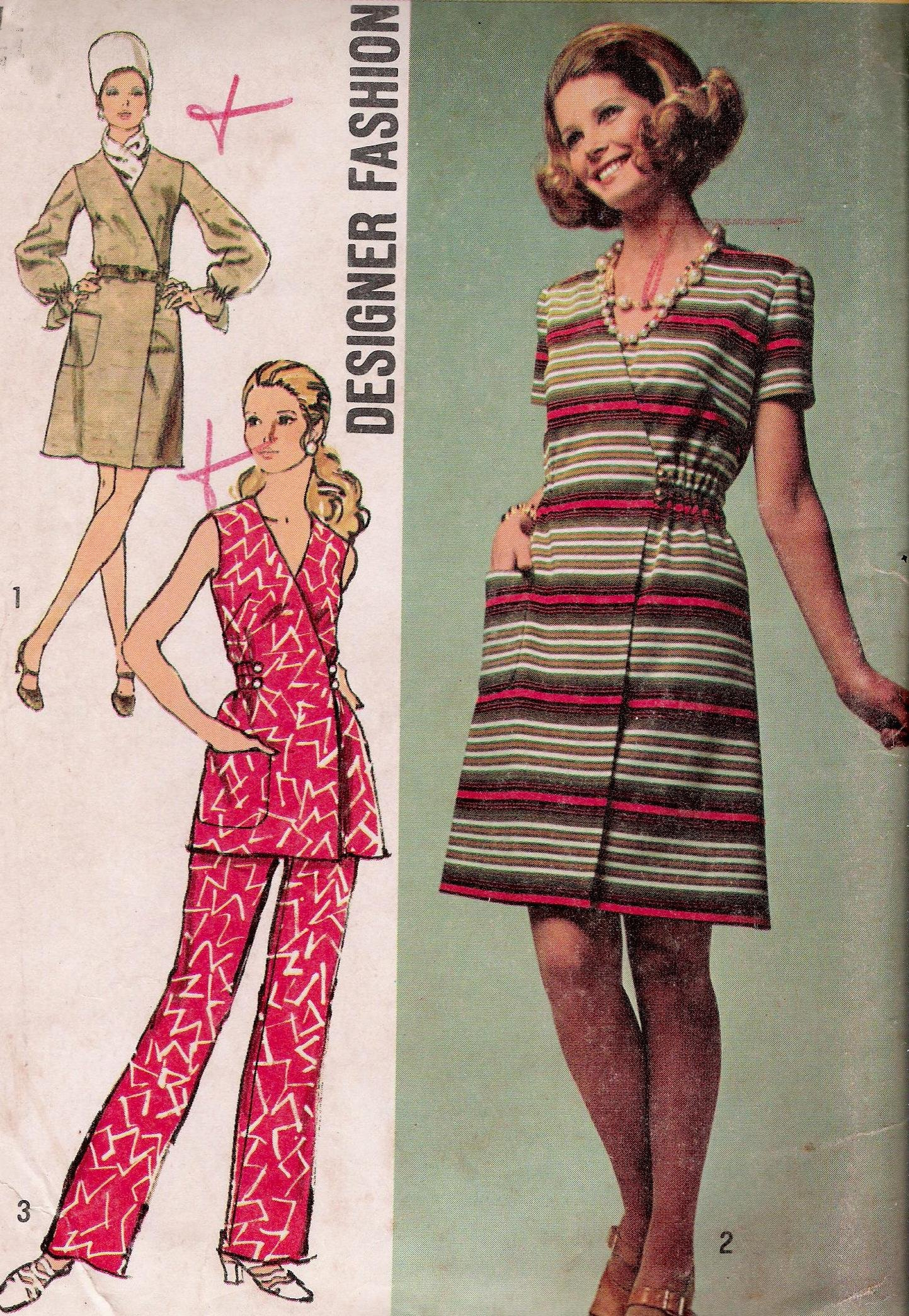 Vintage Simplicity 8871 Sewing Pattern Dress Tunic Pants Bust 34 Inches