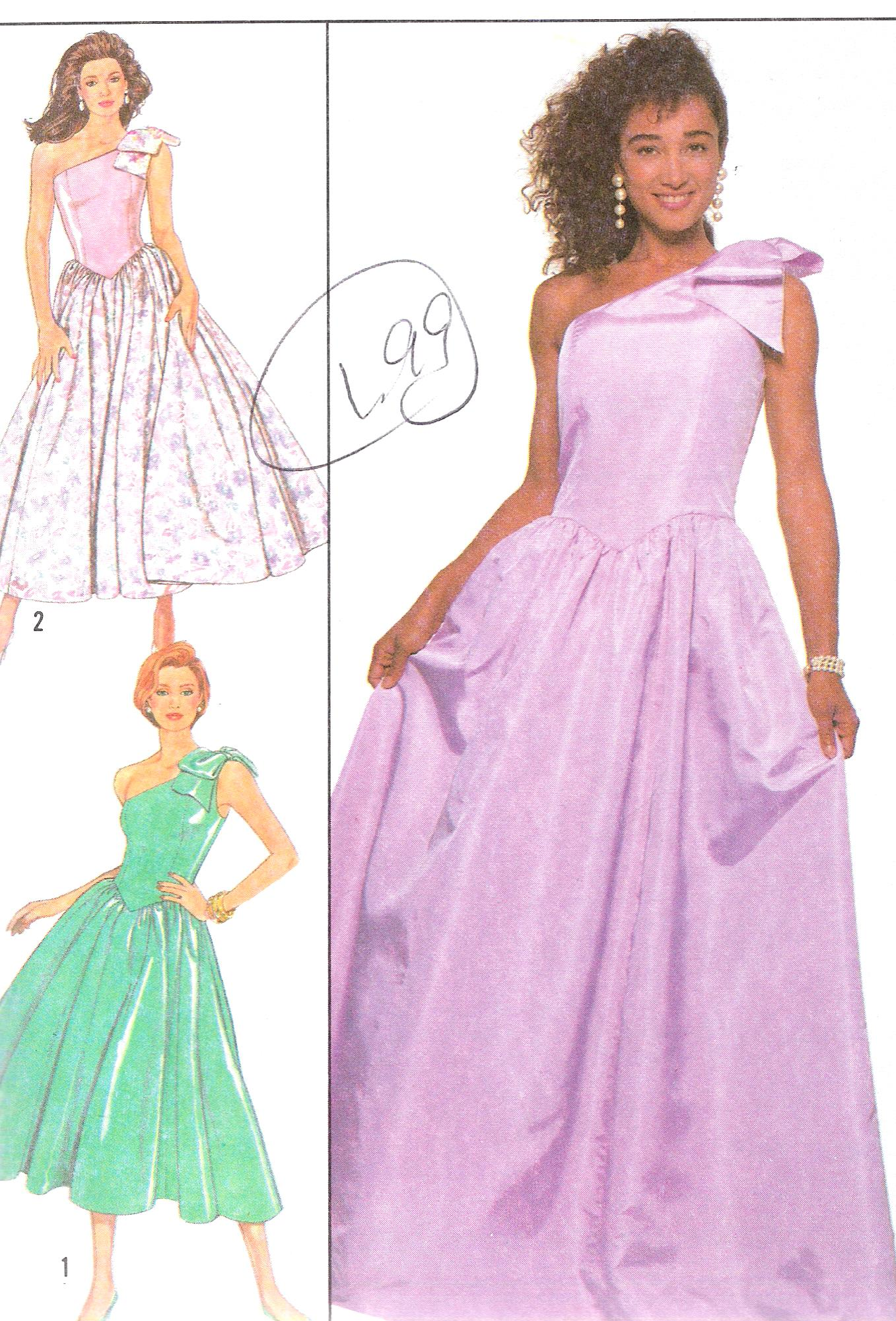 Simplicity 9082 SEWING PATTERN Evening Party DRESS Bust 34 Inches UNCUT
