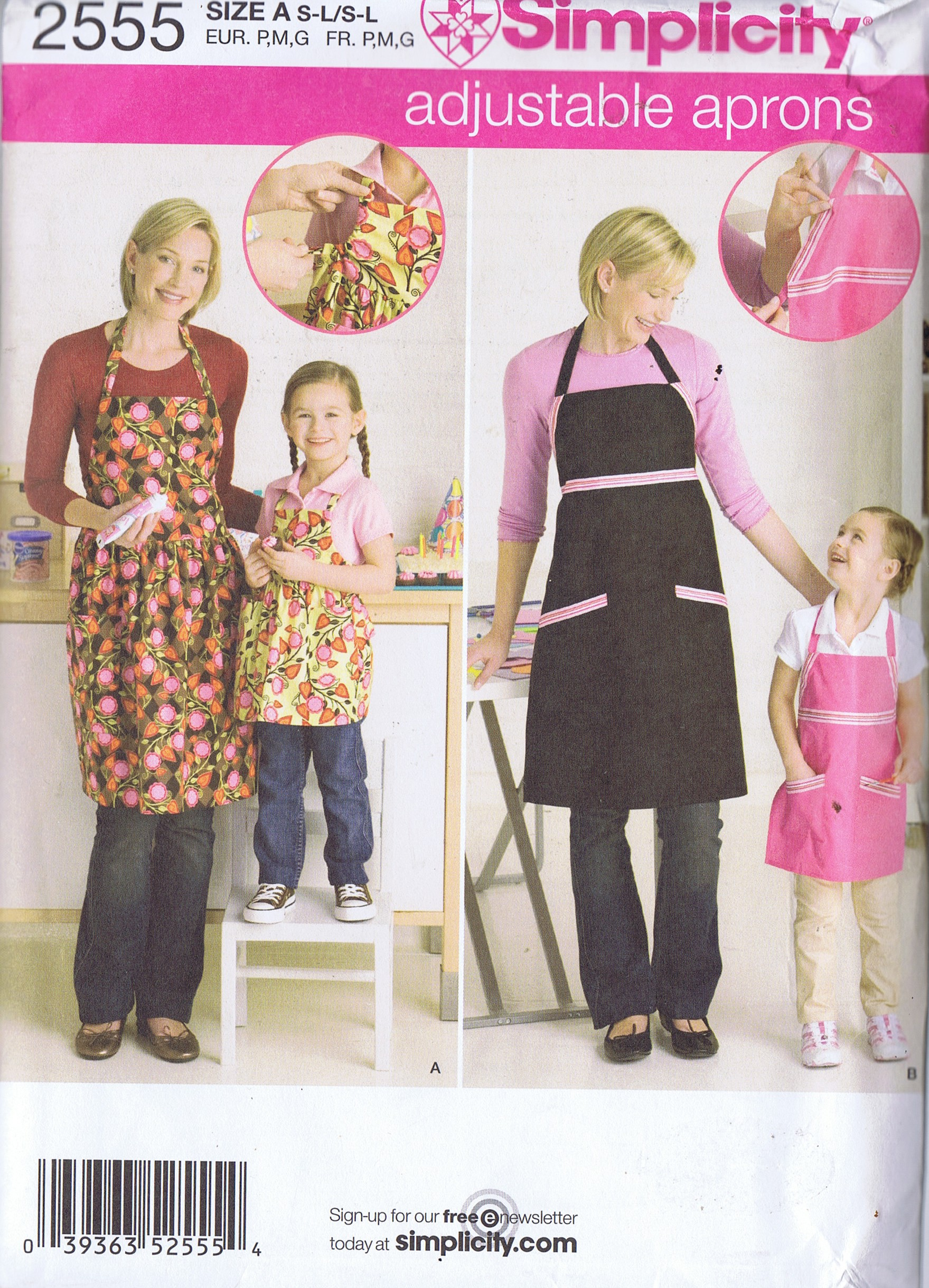 2555 Simplicity Apron Sewing Pattern Mother Daughter