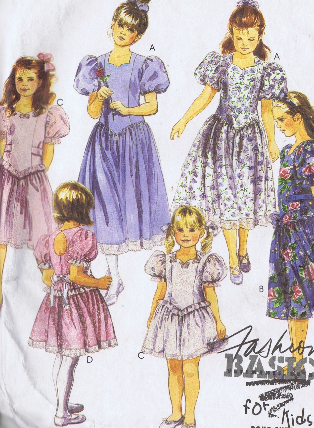 5300 McCalls GIRLS One Piece Dress Sewing Pattern SIZE 6 Bust 25 Inches Uncut