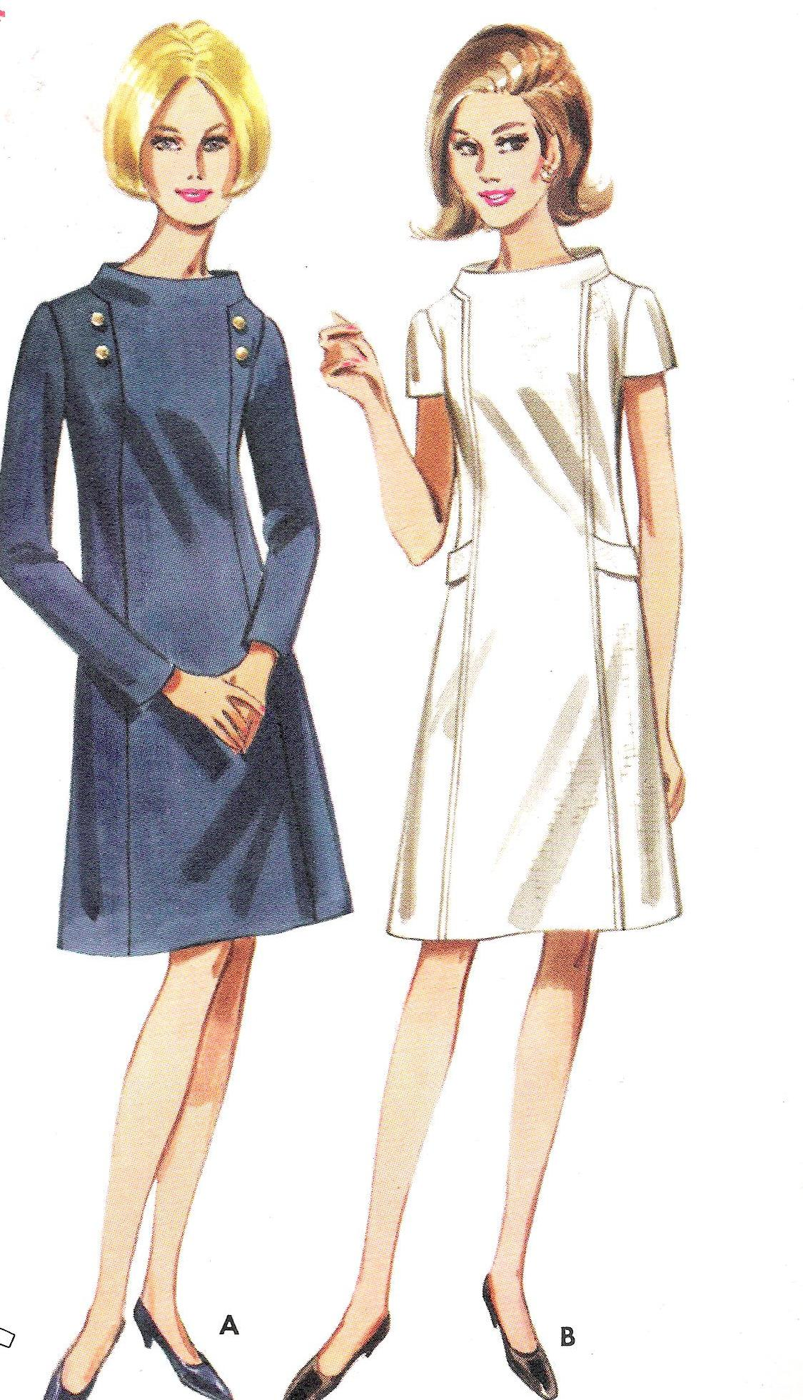 4222 Butterick Pattern One Piece Dress
