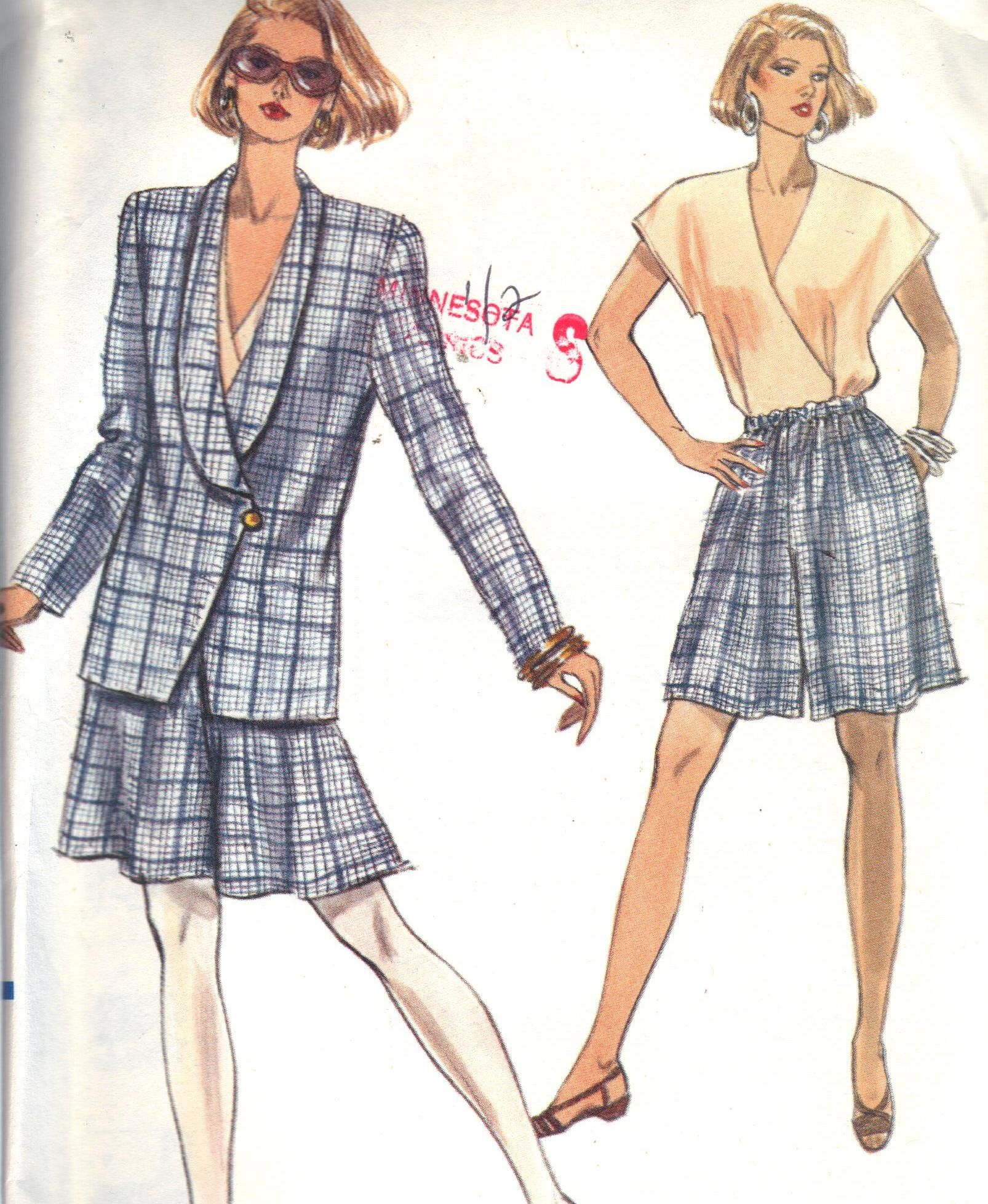 7791 Vogue Jacket Short Pattern Size 8-12