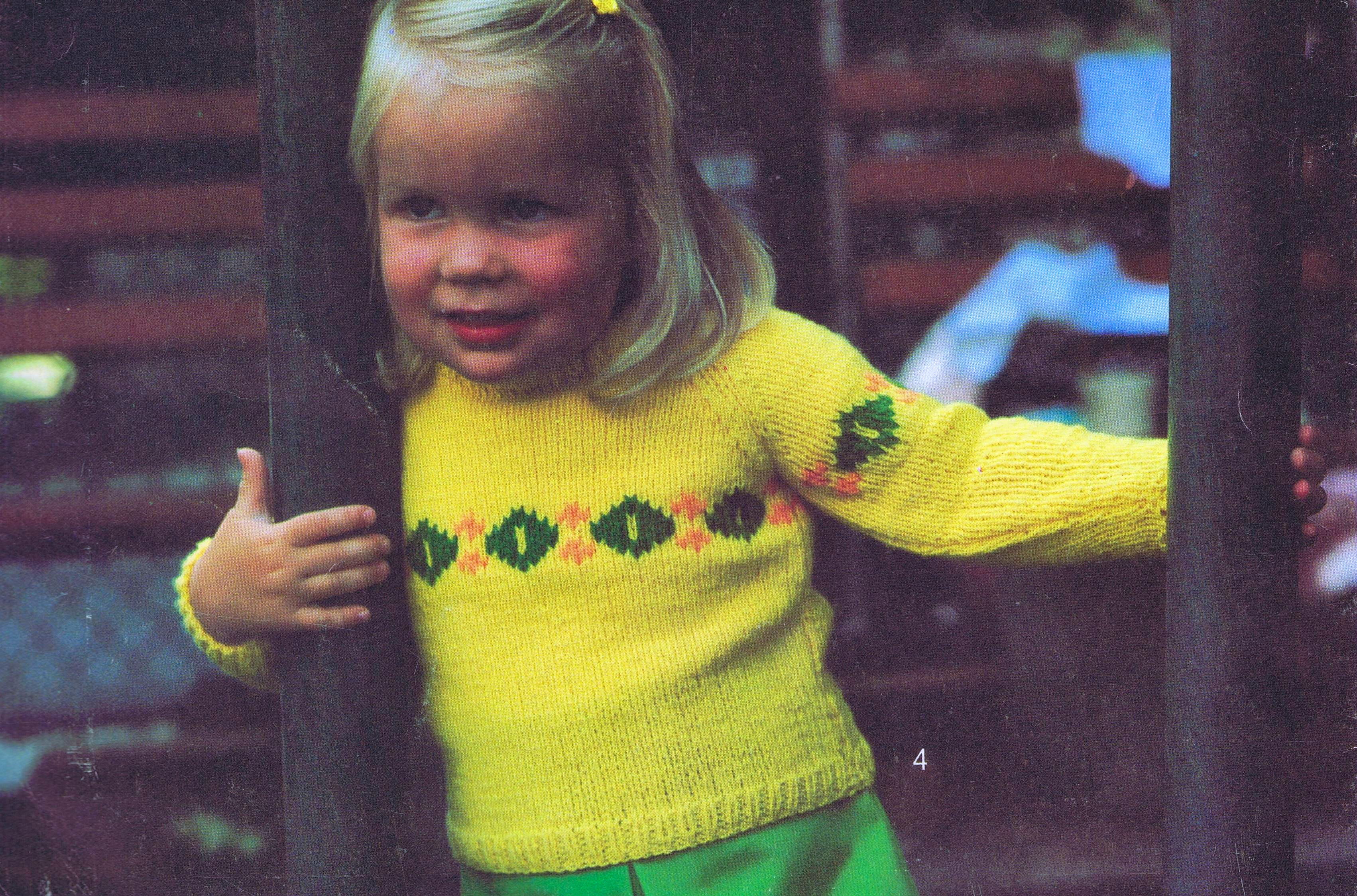 3 Toddler Sweater Knitting Patterns