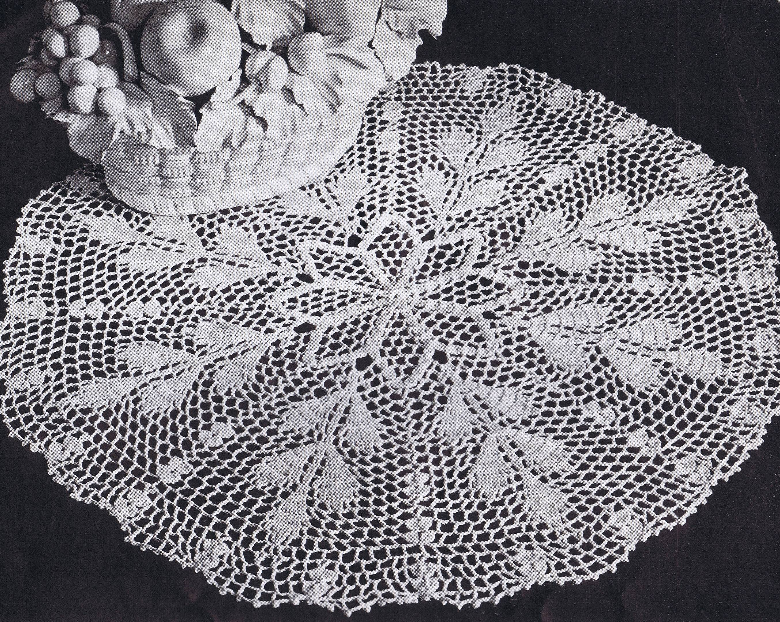 Autumn Wheat Crochet Doily