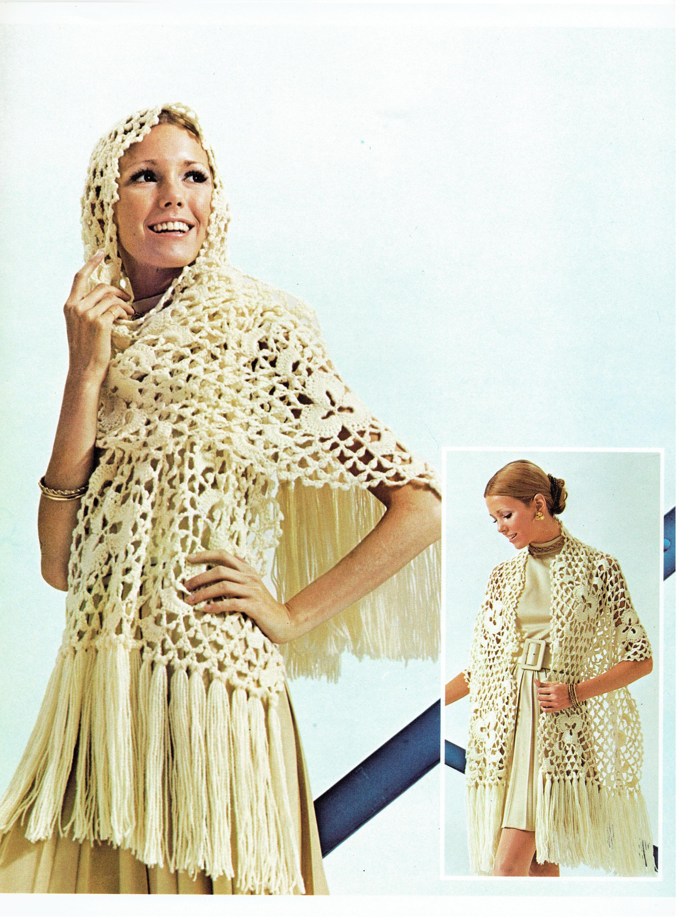 Crochet Your Own Vintage Crochet Lace Medallion Stole Pattern