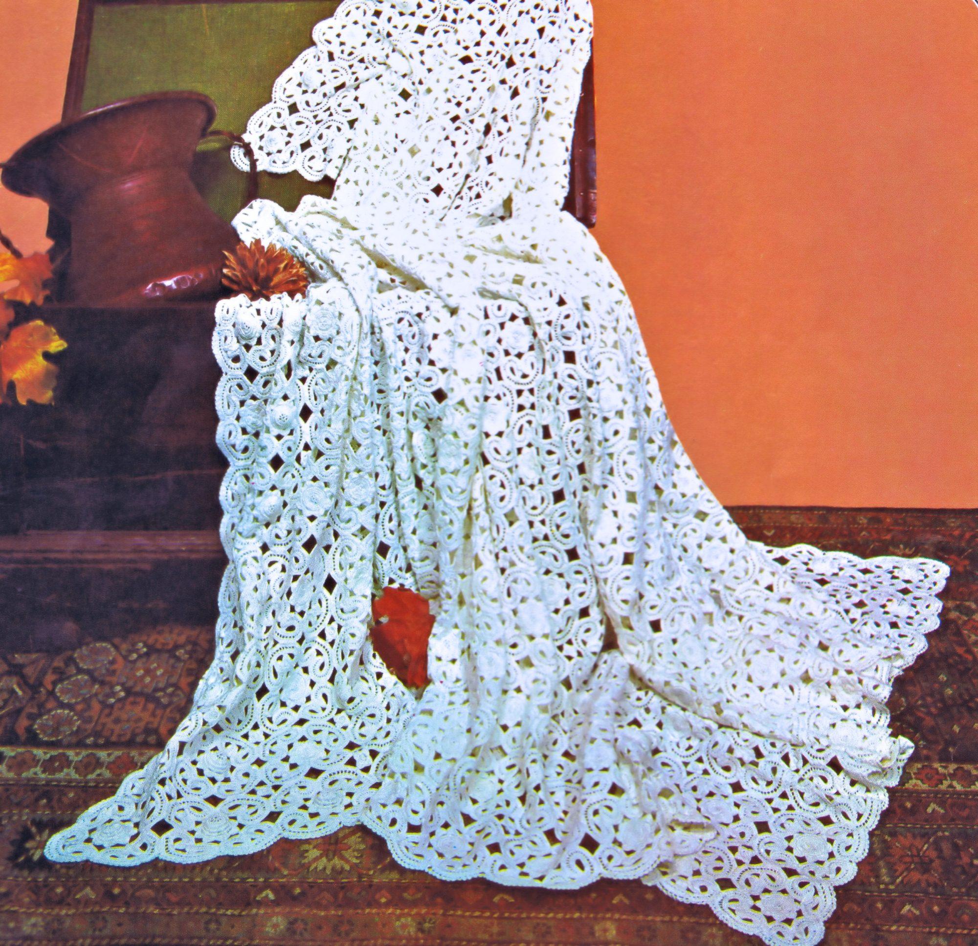 Free Irish Crochet Bedspread Pattern Vintage Patterns
