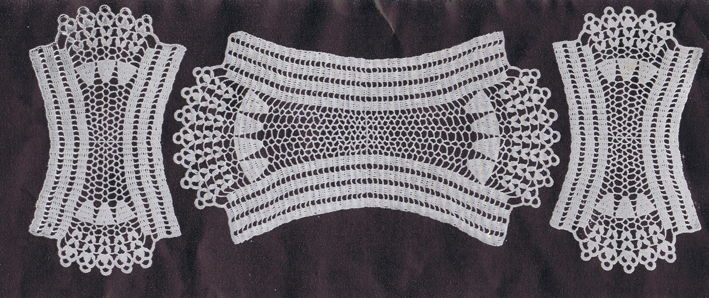 Vintage Crochet Pineapple Tablecloth Pattern Free Round Table Designs